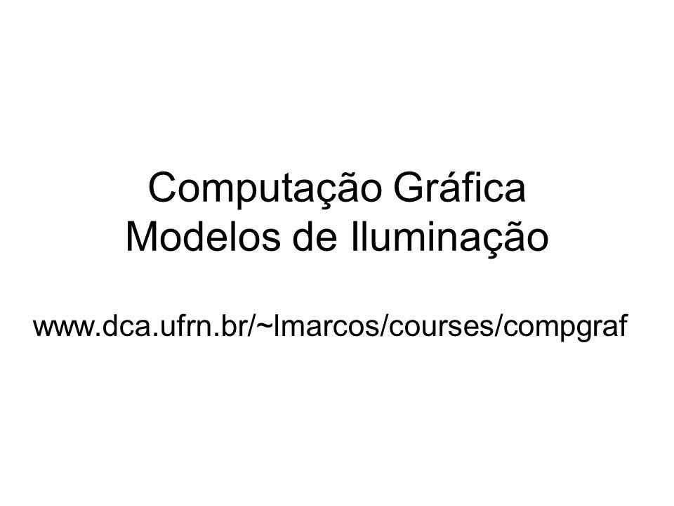Computação Gráfica Modelos de Iluminação www.dca.ufrn.br/~lmarcos/courses/compgraf