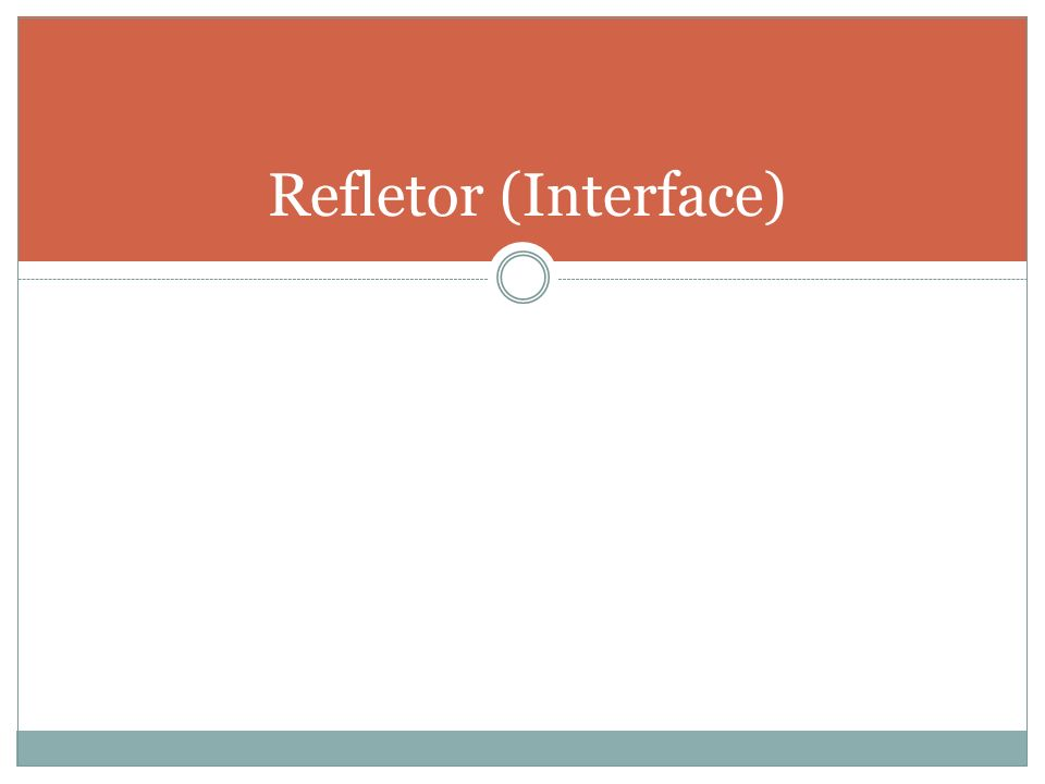 Refletor (Interface)