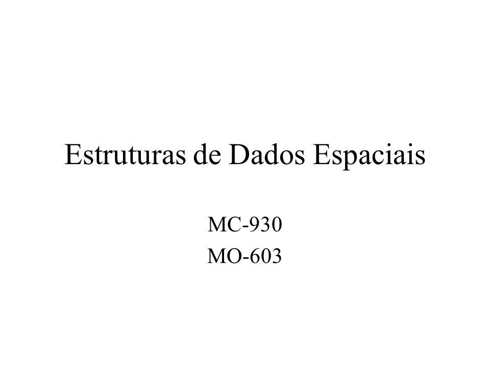 Estruturas de Dados Espaciais MC-930 MO-603