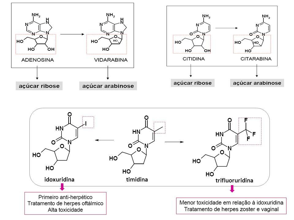 ribavirina aciclovir valaciclovir penciclovir fanciclovir ganciclovir guanosina
