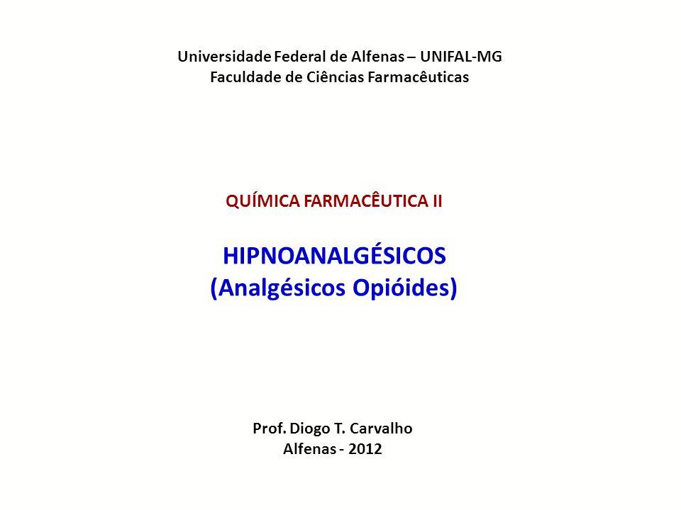 Universidade Federal de Alfenas – UNIFAL-MG Faculdade de Ciências Farmacêuticas QUÍMICA FARMACÊUTICA II HIPNOANALGÉSICOS (Analgésicos Opióides) Prof.