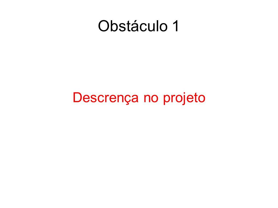 Obstáculo 1 Descrença no projeto