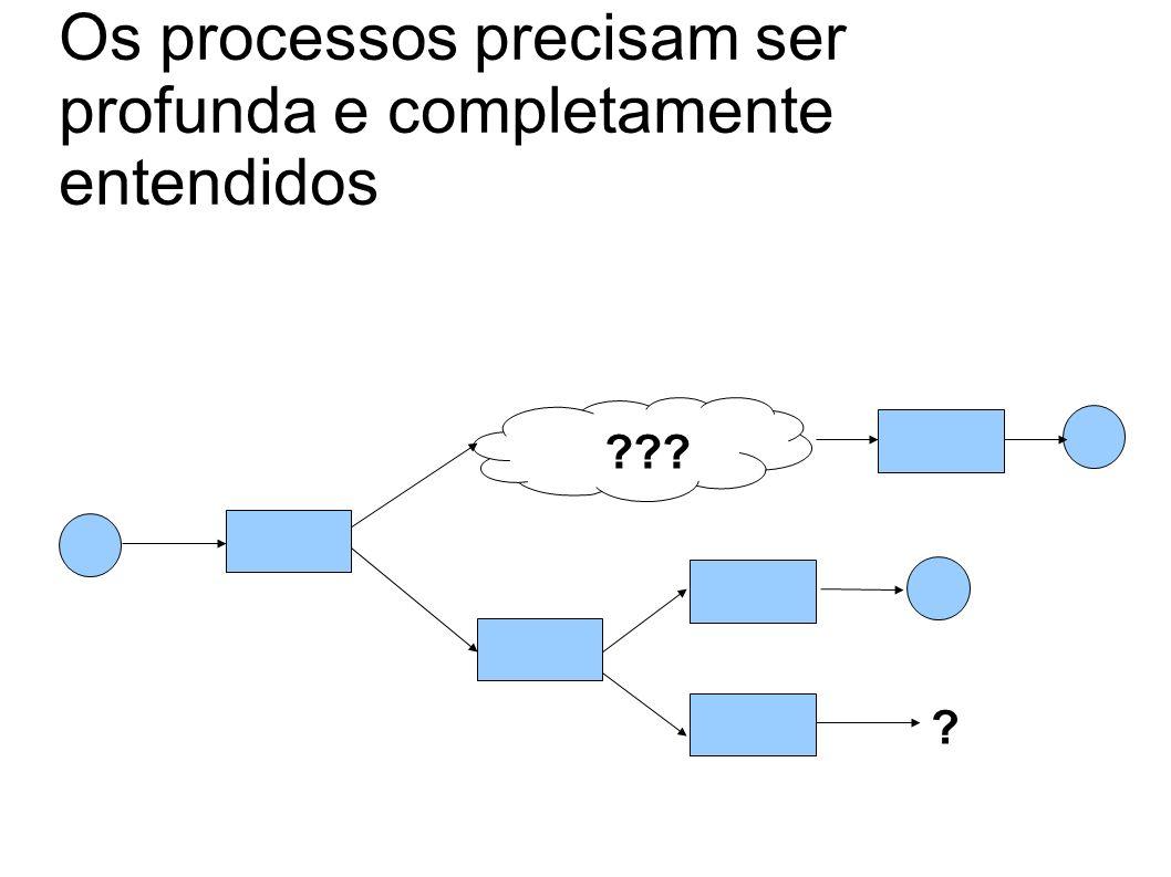 Os processos precisam ser profunda e completamente entendidos ? ???