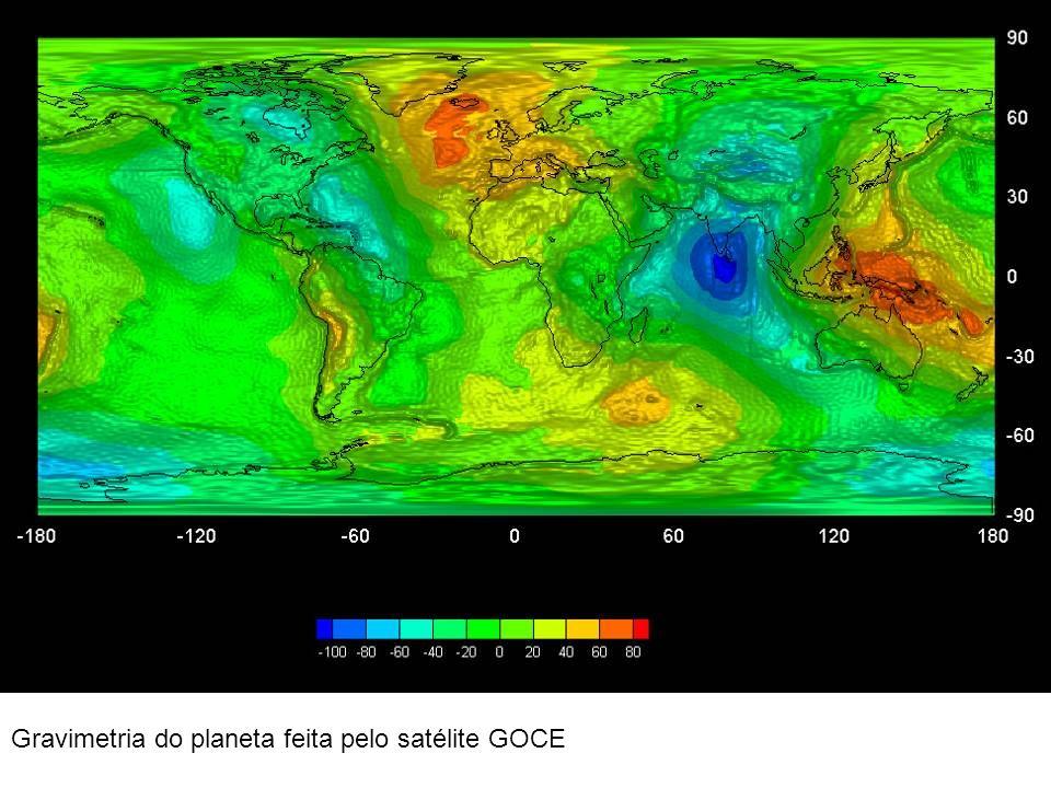 Gravimetria do planeta feita pelo satélite GOCE