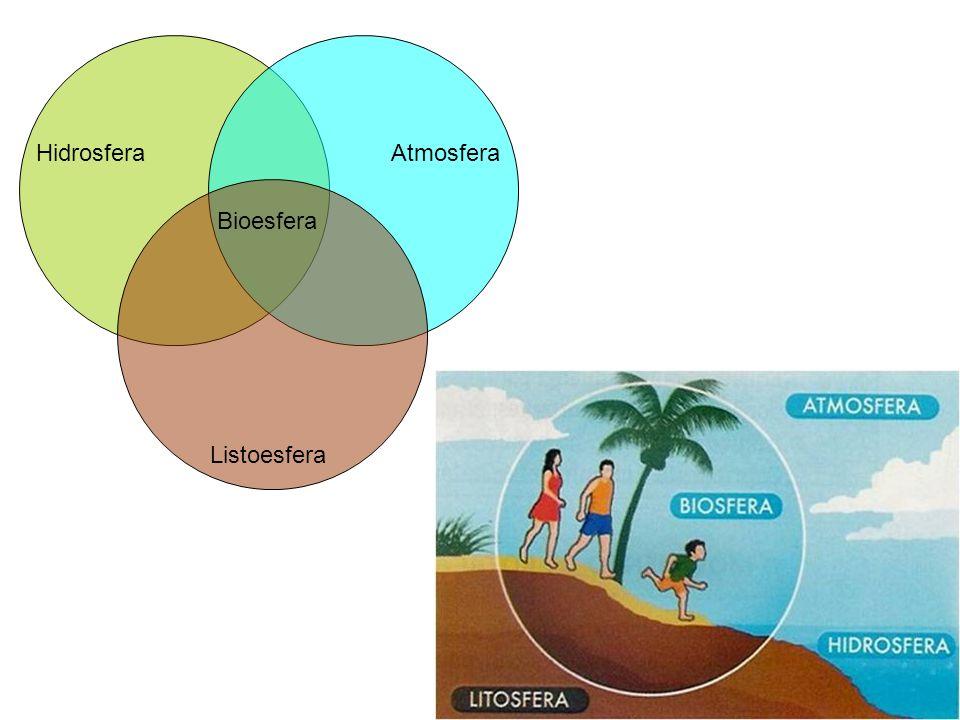 HidrosferaAtmosfera Listoesfera Bioesfera