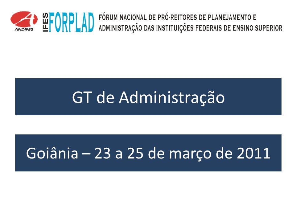 GT de Administração Goiânia – 23 a 25 de março de 2011