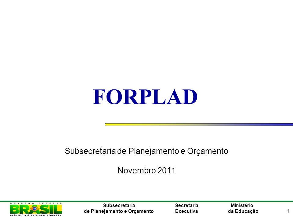 2 Ministério da Educação Subsecretaria de Planejamento e Orçamento Secretaria Executiva Plano Mais Brasil
