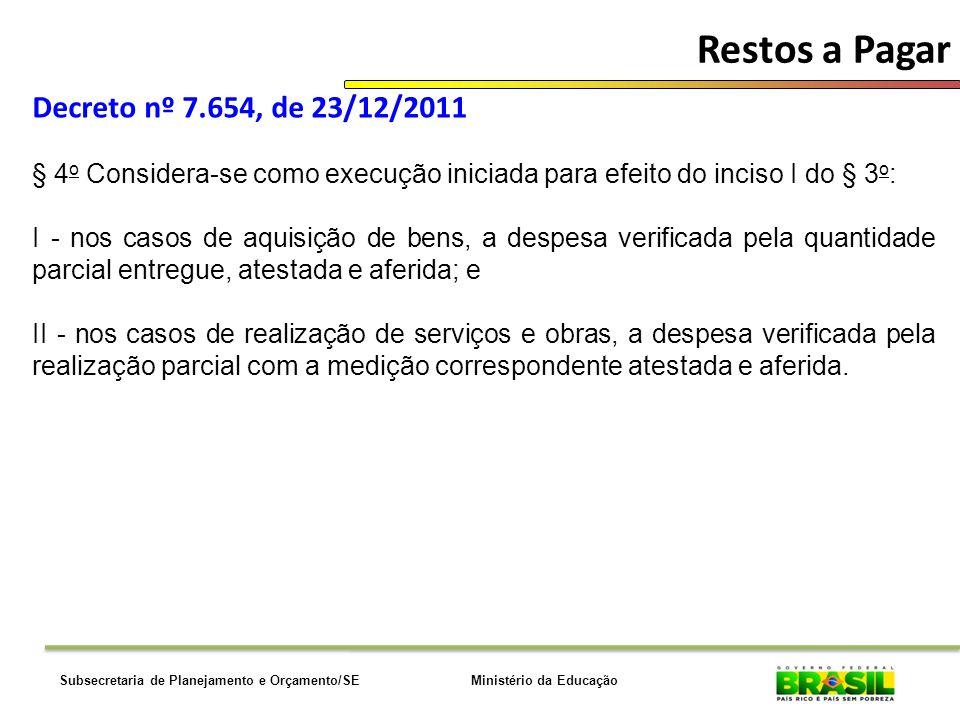 Ministério da EducaçãoSubsecretaria de Planejamento e Orçamento/SE Diárias e Passagens UNID.