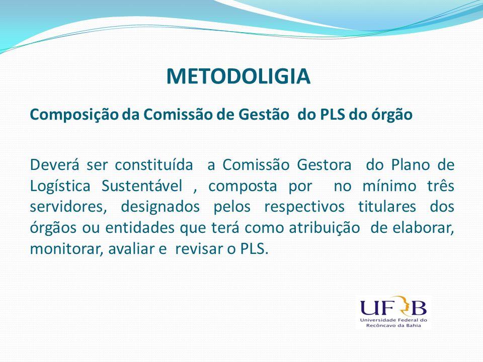 Composição da Comissão de Gestão do PLS do órgão Deverá ser constituída a Comissão Gestora do Plano de Logística Sustentável, composta por no mínimo t