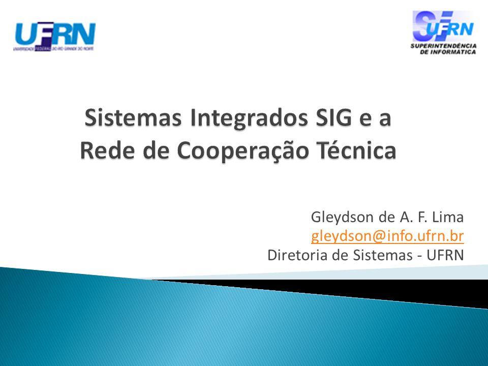 Contextualização histórica Sistemas Integrados SIG Desafios de implantação Transferência dos sistemas Conclusões