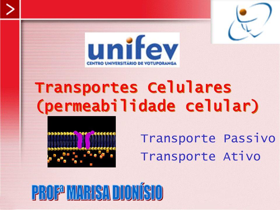 Transporte Passivo Transporte Ativo Transportes Celulares (permeabilidade celular)
