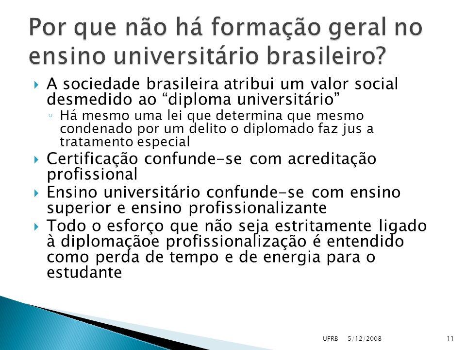 A sociedade brasileira atribui um valor social desmedido ao diploma universitário Há mesmo uma lei que determina que mesmo condenado por um delito o d