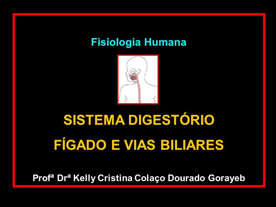 Fisiologia Humana SISTEMA DIGESTÓRIO FÍGADO E VIAS BILIARES Profª Drª Kelly Cristina Colaço Dourado Gorayeb