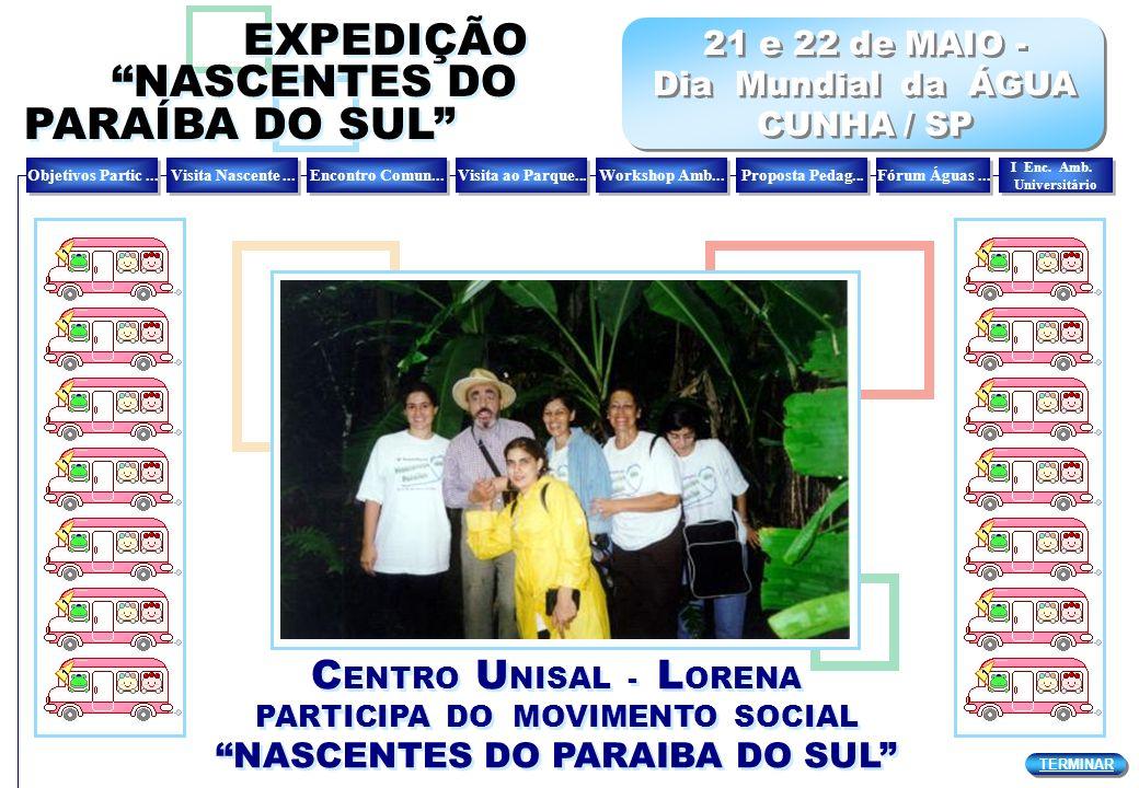 C ENTRO U NISAL - L ORENA PARTICIPA DO MOVIMENTO SOCIAL NASCENTES DO PARAIBA DO SUL C ENTRO U NISAL - L ORENA PARTICIPA DO MOVIMENTO SOCIAL NASCENTES