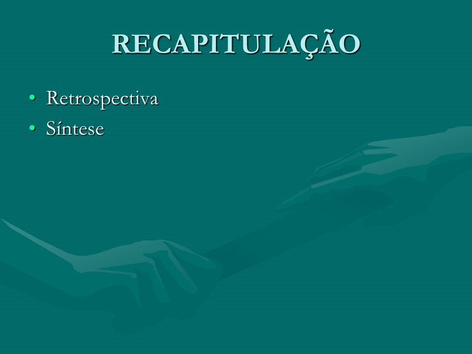 RECAPITULAÇÃO RetrospectivaRetrospectiva SínteseSíntese