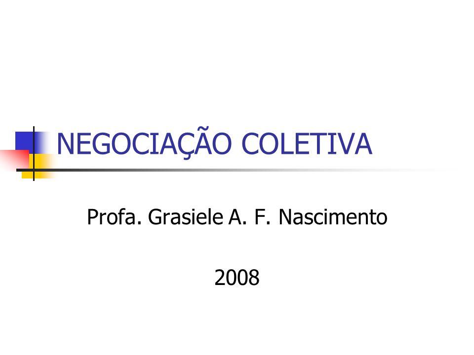 NEGOCIAÇÃO COLETIVA Profa. Grasiele A. F. Nascimento 2008