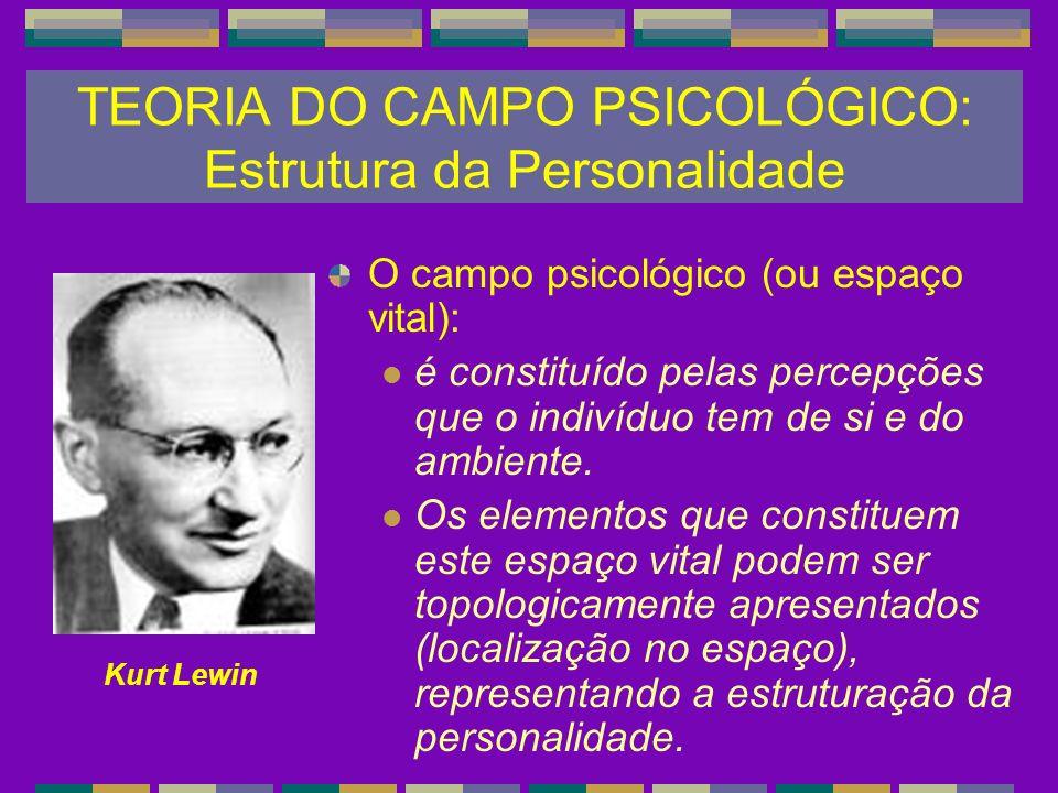 O campo psicológico (ou espaço vital): é constituído pelas percepções que o indivíduo tem de si e do ambiente. Os elementos que constituem este espaço