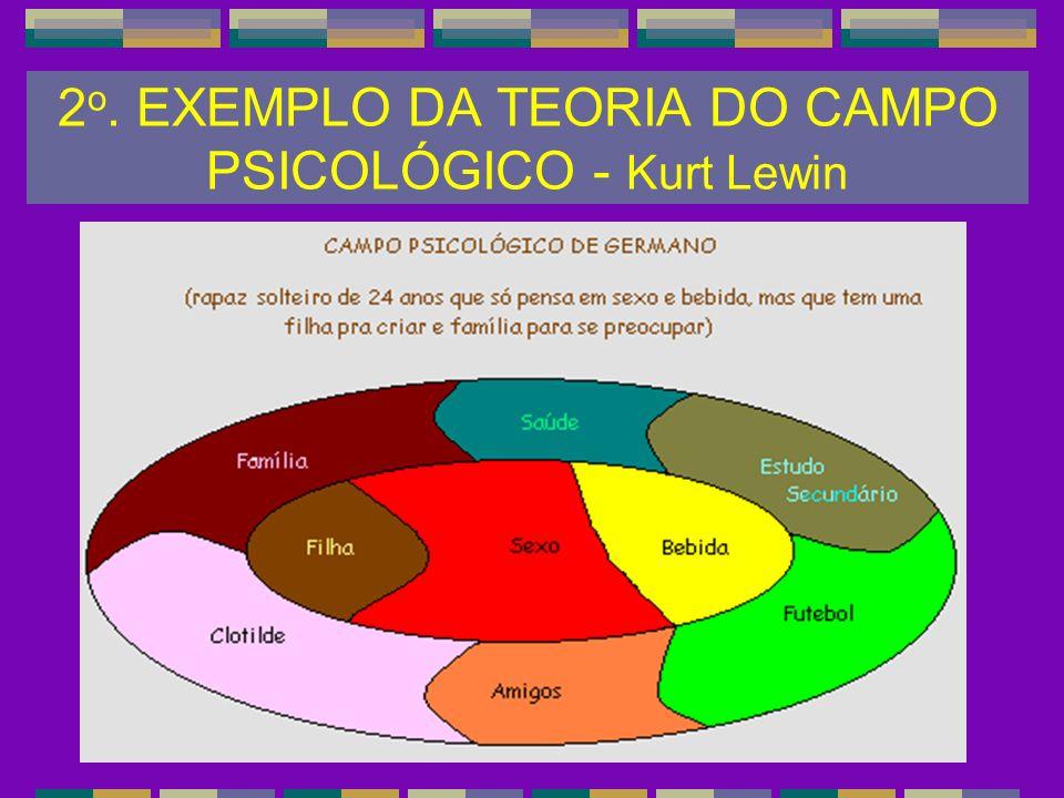 2 o. EXEMPLO DA TEORIA DO CAMPO PSICOLÓGICO - Kurt Lewin