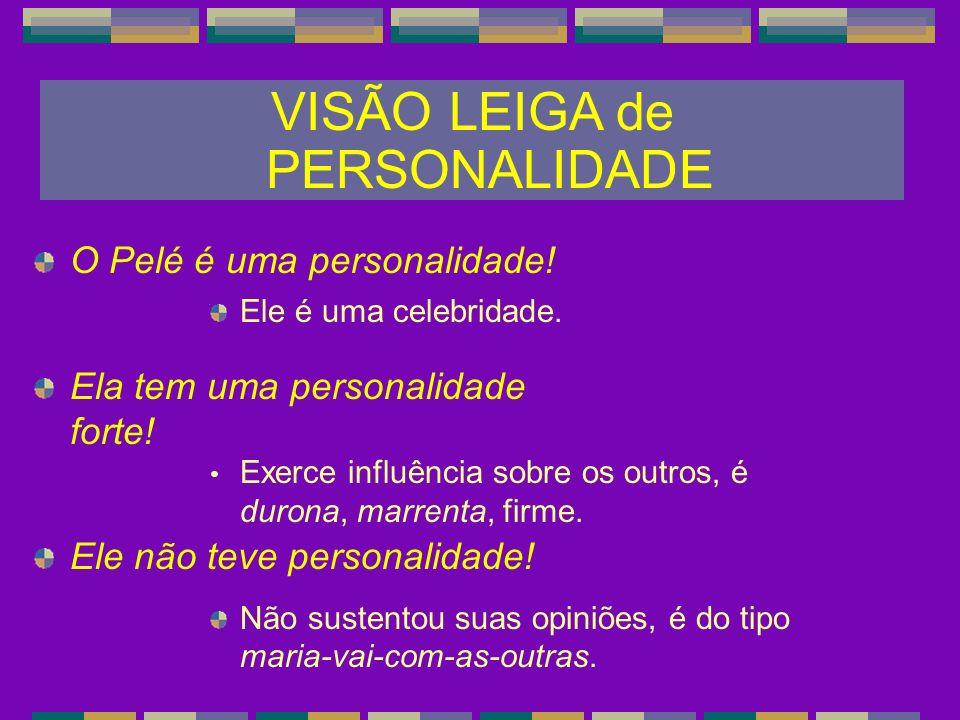 CONCEITO de PERSONALIDADE Etimologia da palavra personalidade: Latim: persona (máscara que os atores usavam para representar seus papéis), per-sona (soar através de).