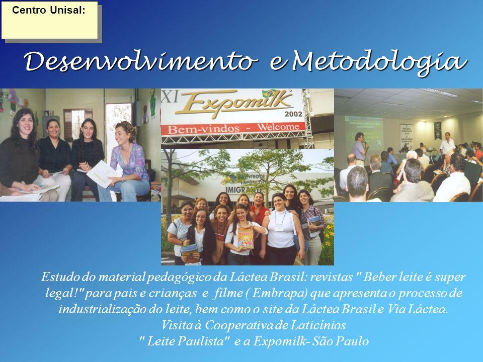 Desenvolvimento e Metodologia Estudo do material pedagógico da Láctea Brasil: revistas