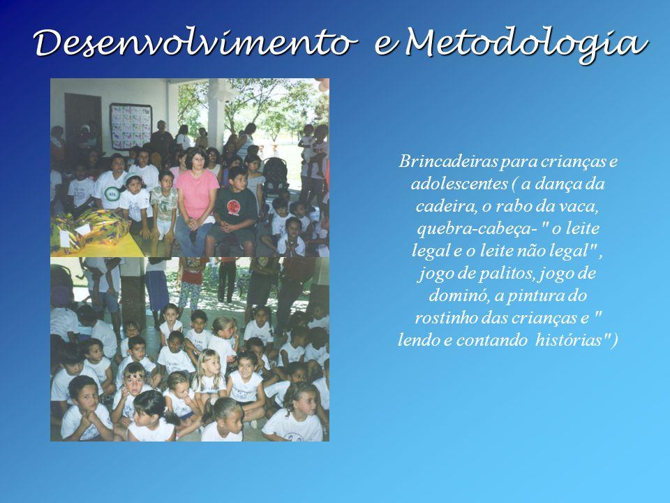 Desenvolvimento e Metodologia Desenvolvimento e Metodologia Brincadeiras para crianças e adolescentes ( a dança da cadeira, o rabo da vaca, quebra-cab