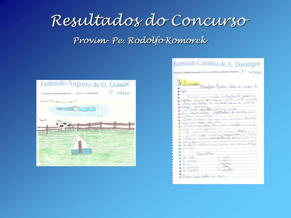 Resultados do Concurso Provim- Pe. Rodolfo Komorek Resultados do Concurso Provim- Pe. Rodolfo Komorek