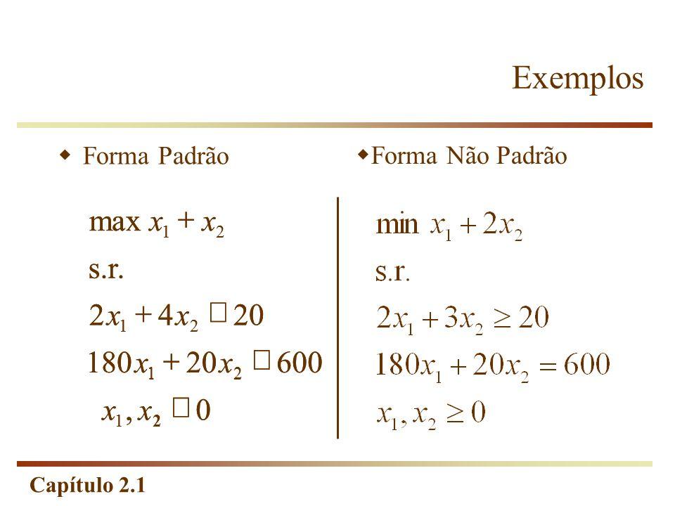 Capítulo 2.1 Exemplos Forma Padrão Forma Não Padrão 0, 60020180 2042 s.r. max 21 21 21 21 xx xx xx xx 0, 60020180 2042 s.r. max 21 21 21 21 xx xx xx x