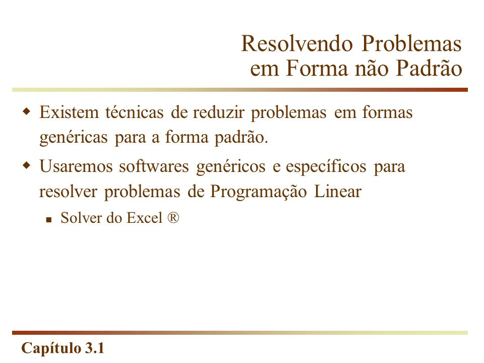 Capítulo 3.1 Obtendo a Solução