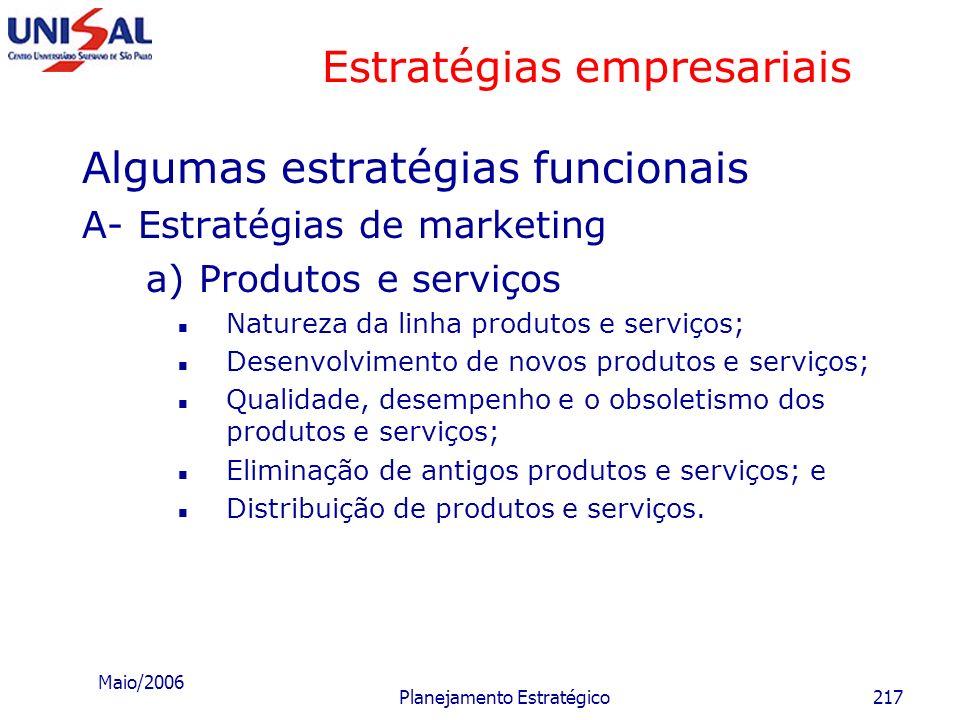 Maio/2006 Planejamento Estratégico216 Ciclo de vida da indústria ou setor http://www.spi.pt/documents/books/inovint/ippo/acesso_ao_conteudo_integral/c