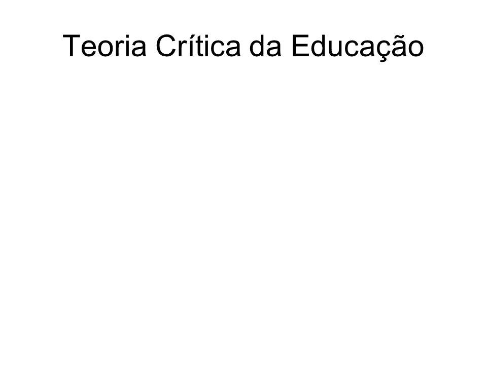 Teoria Crítica da Educação