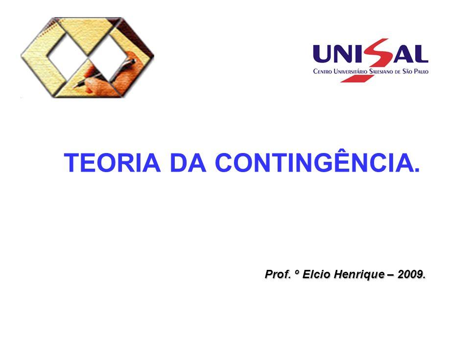 TEORIA DA CONTINGÊNCIA. Prof. º Elcio Henrique – 2009.