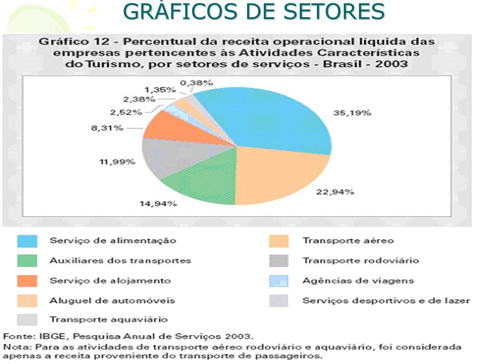GRÁFICOS DE SETORES O gráfico de setores, também conhecido como gráfico pizza, torta, queijo ou bolacha é um dos mais simples recursos gráficos, sua c