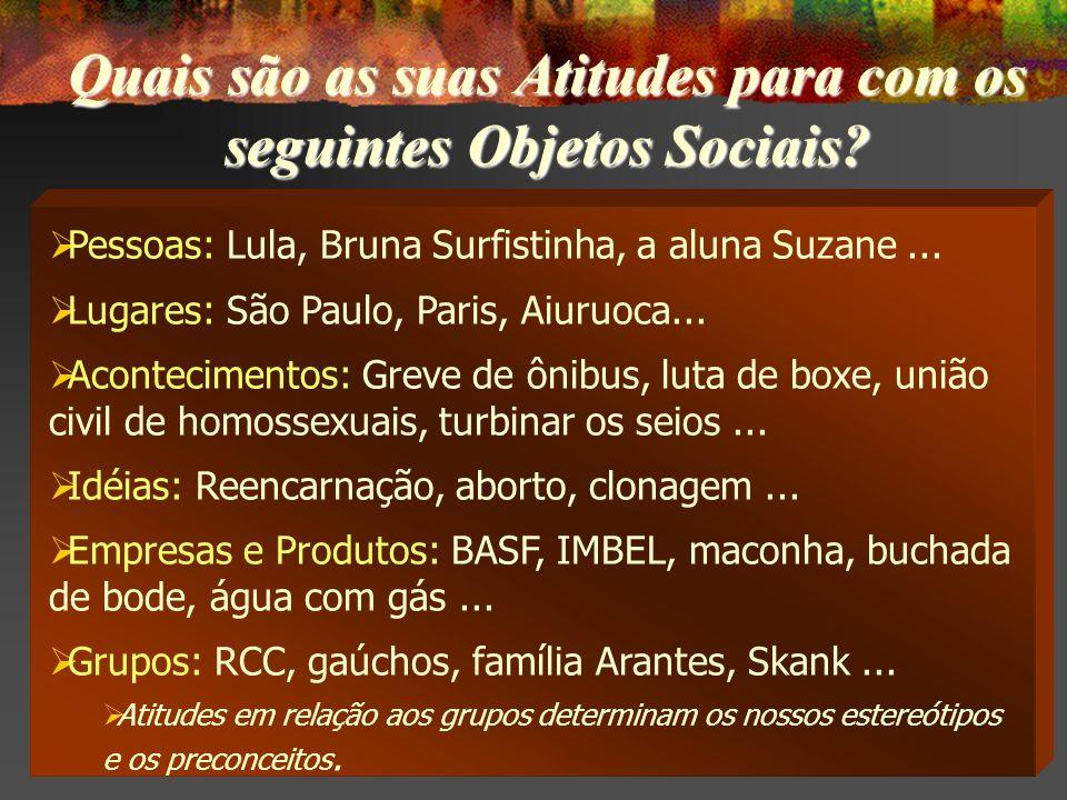 Pessoas: Lula, Bruna Surfistinha, a aluna Suzane...