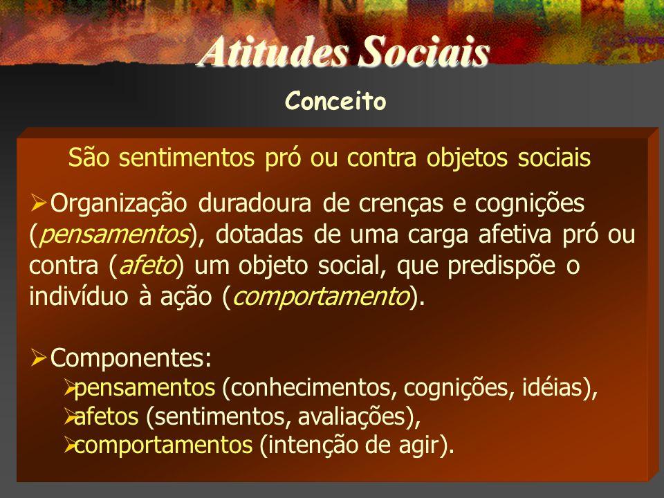 * Estereótipos Positivos: Paulistas são trabalhadores; Cariocas são divertidos; Bombeiros são prestativos; Homens são corajosos; Mulheres são emotivas; etc.