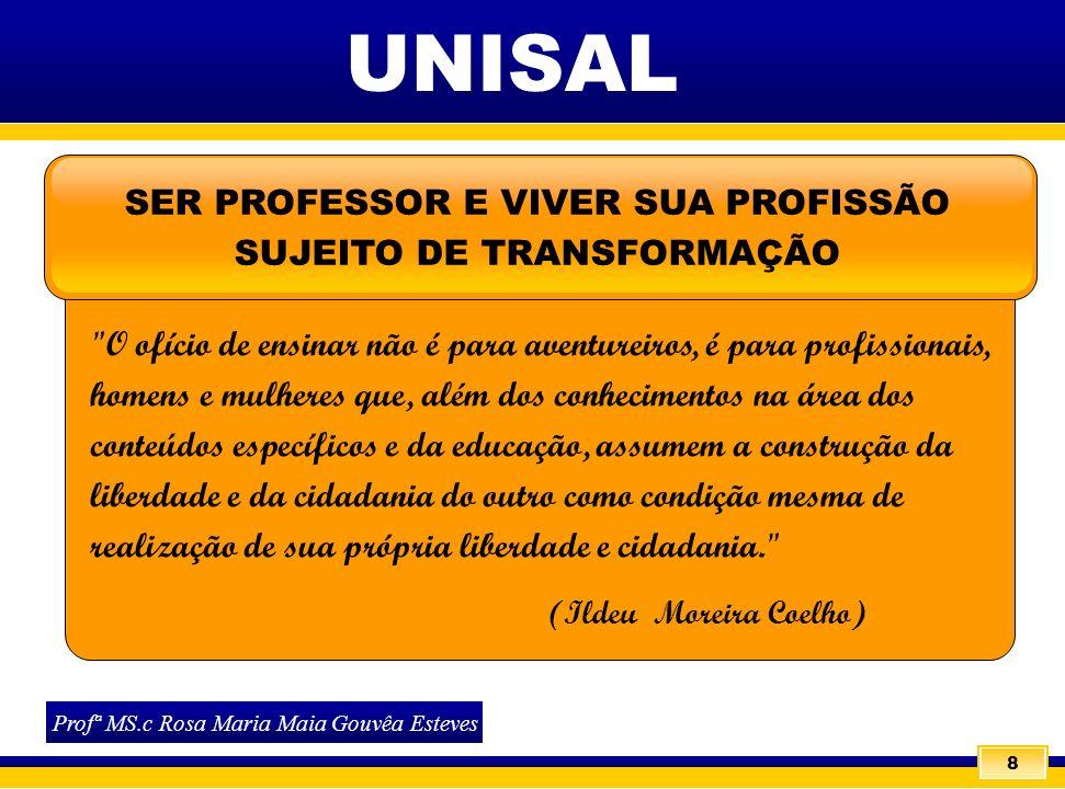 8 SER PROFESSOR E VIVER SUA PROFISSÃO SUJEITO DE TRANSFORMAÇÃO