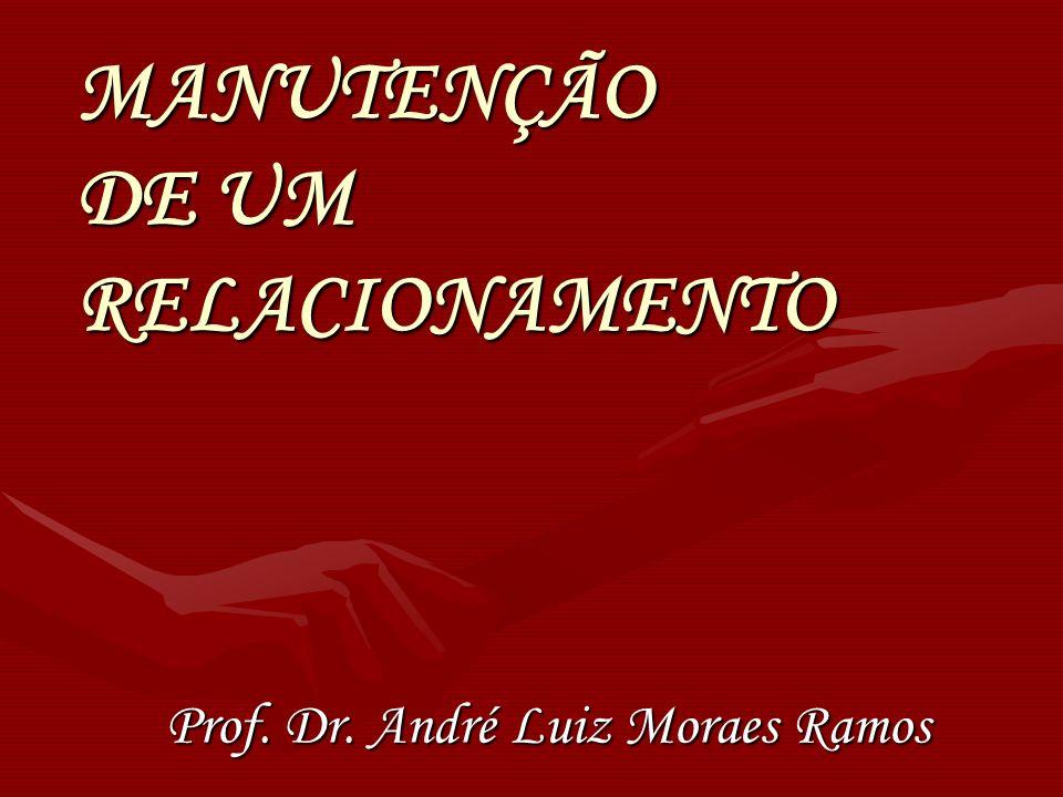 MANUTENÇÃO DE UM RELACIONAMENTO Prof. Dr. André Luiz Moraes Ramos
