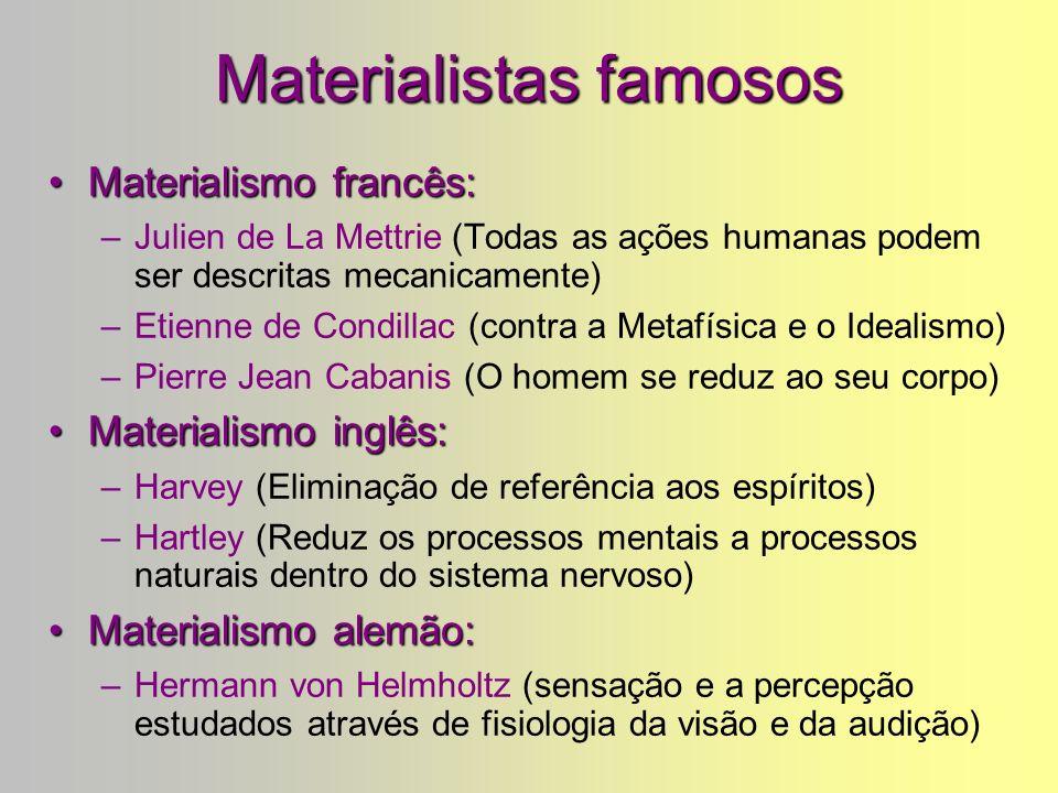 Materialismo: exemplo : Titãs O Pulso (Toni Belotto, Arnaldo Antunes, Marcelo Fromer) O pulso ainda pulsa Peste bubônica câncer pneumonia Raiva rubéol