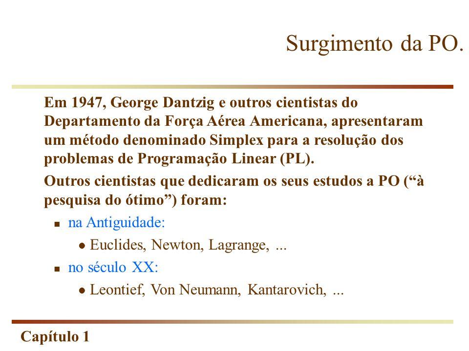 Capítulo 1 Pesquisa (estudo) das Operações (atividades) O que é a Pesquisa Operacional.