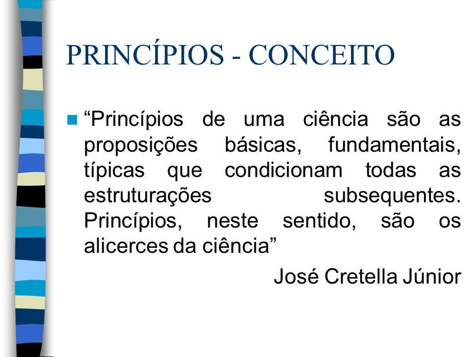 Princípios X Peculiaridades PrincípiosPeculiaridades São geraisSão restritas, ref.