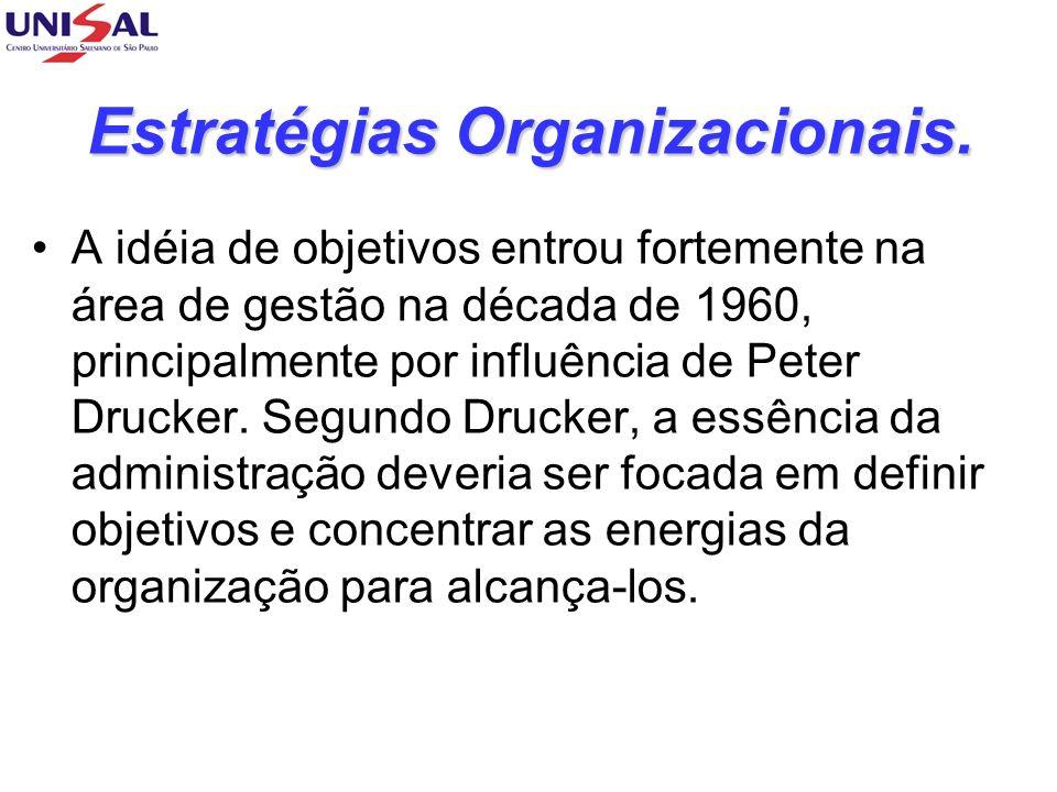 Objetivos Organizacionais.