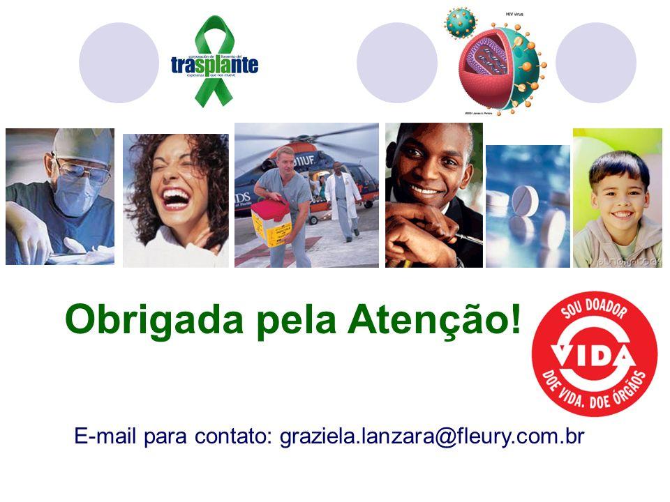 E-mail para contato: graziela.lanzara@fleury.com.br Obrigada pela Atenção!