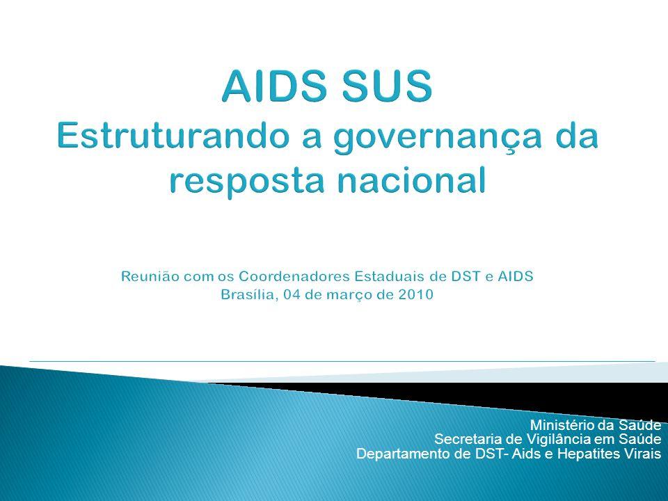 Ministério da Saúde Secretaria de Vigilância em Saúde Departamento de DST- Aids e Hepatites Virais