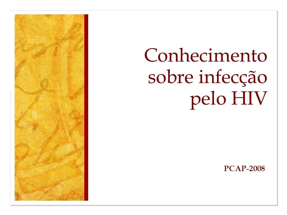 Conhecimento sobre infecção pelo HIV PCAP-2008