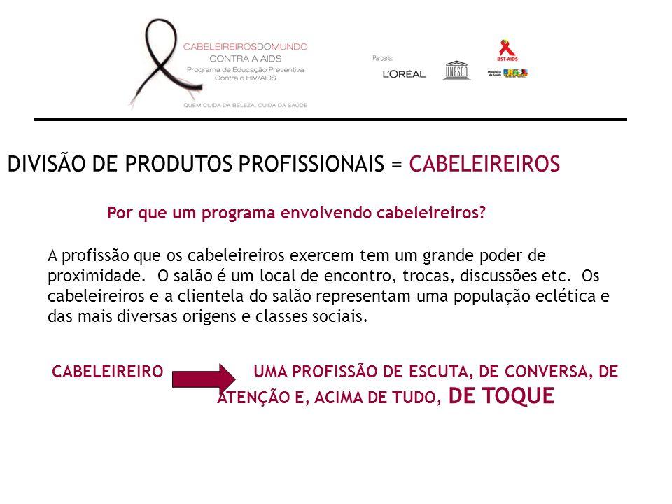 DIVISÃO DE PRODUTOS PROFISSIONAIS = CABELEIREIROS Por que um programa envolvendo cabeleireiros.
