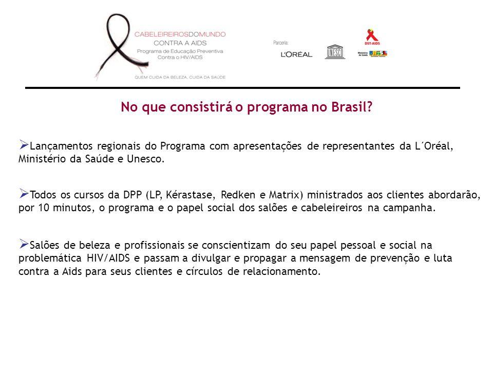 No que consistirá o programa no Brasil.