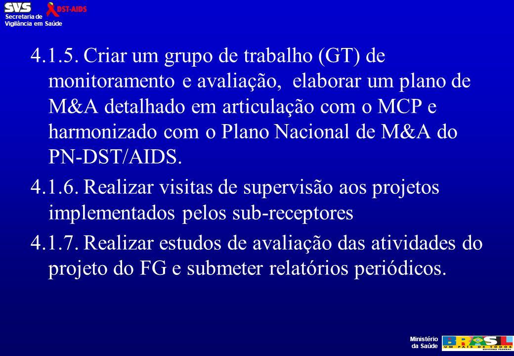 Ministério da Saúde Secretaria de Vigilância em Saúde 4.1.5.