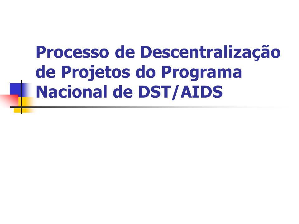 Processo de Descentralização de Projetos do Programa Nacional de DST/AIDS