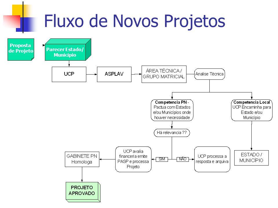 Fluxo de Novos Projetos Parecer Estado/ Município Proposta de Projeto
