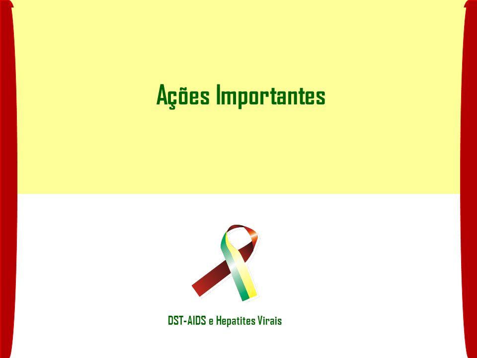 Ações Importantes DST-AIDS e Hepatites Virais