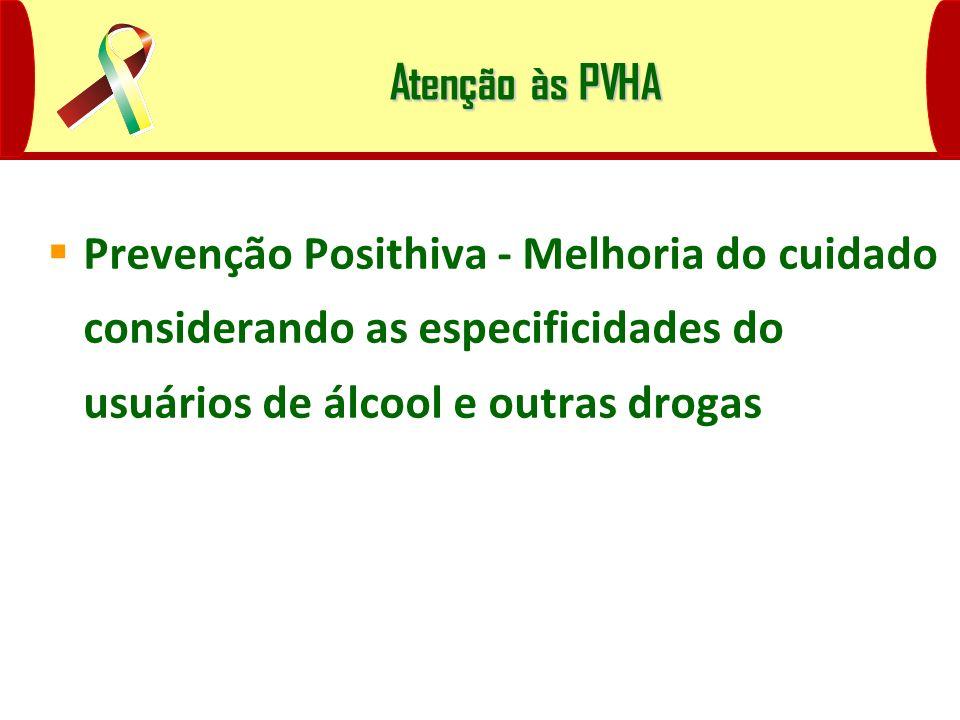 Prevenção Posithiva - Melhoria do cuidado considerando as especificidades do usuários de álcool e outras drogas Atenção às PVHA